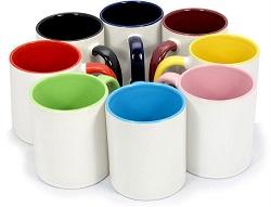 Полноцветная печать на белых кружках